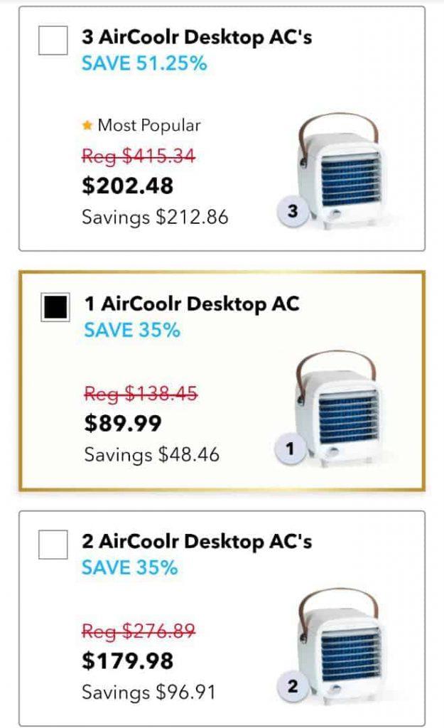 Aircoolr desktop ac