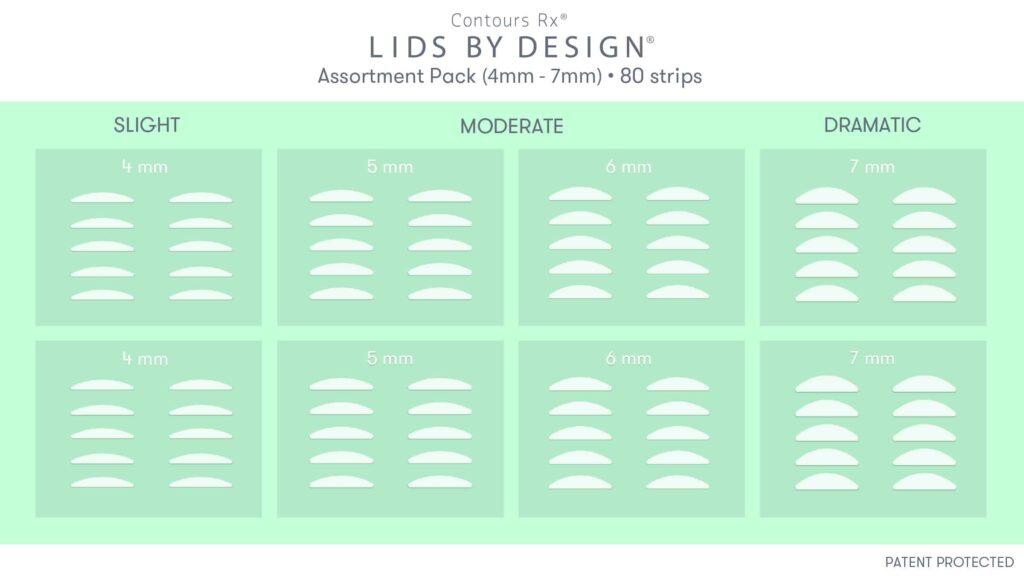 Lids by design strip sizes